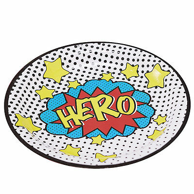 8 x Comic Superhero Paper Plates for Parties and Picnics