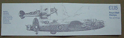1981 Great Britain Folded Stamp Booklet Military Aircraft Fi1B