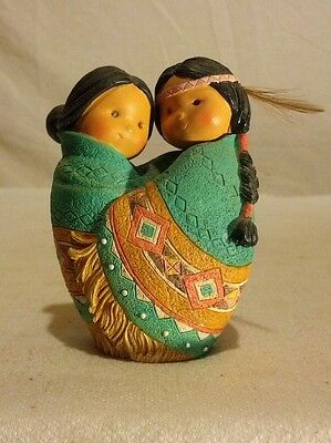 """Enesco Friends Of A Feather """"Love For Many Moons"""" 1994 Karen Hahn # 115703"""