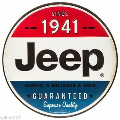 Iconic Classic Jeep Tin Metal Sign Vintage Oil & Gas Station Garage 1941 New.