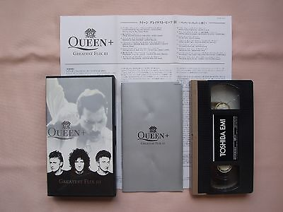 QUEEN・Greatest Flix III 3・JAPAN VHS video W/Booklet