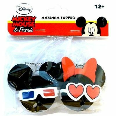 Disney Mickey Mouse 3D Glasses Minnie Mouse Heart Glasses Antenna Pencil Topper