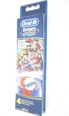 ORAL-B By Braun Stages Power Avengers Toothbrush Heads - 4 Replacement Heads
