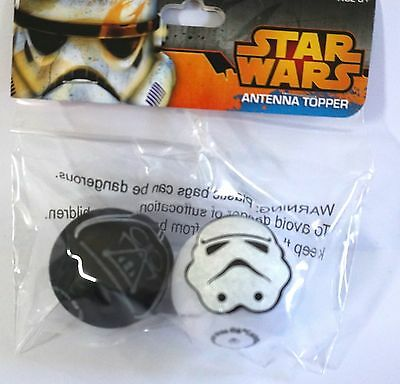 Disney Star Wars Darth Vader Storm Trooper Antenna Topper - 2 pack