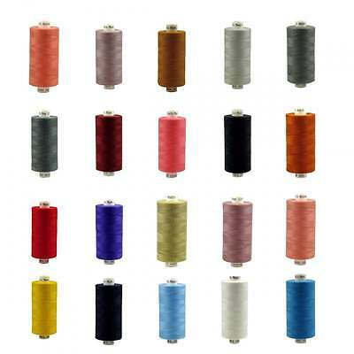 Coats Moon Spun Polyester Sewing Thread 1000 Yards - 30 Colours in 1/2/10