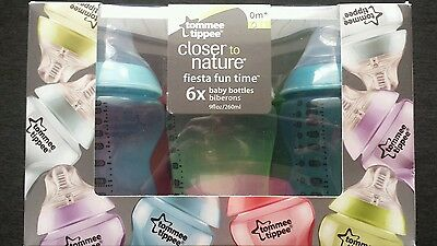 Tommee Tippee Closer to Nature Fiesta Bottle 9 Ounce 6 Count Bottles
