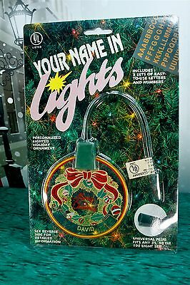 Vintage Your Name in Lights Personalized Lighted Christmas Ornament w/ Letters