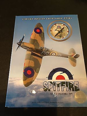 Spitfire  Limited Edition  Set Of 6 Casino Poker Chips