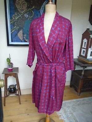 Vintage Mid Century Men's Smoking Jacket / Dressing Gown - Chest 44 Inch