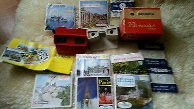 Fantastic Vintage  View-Master 3D Stereo Viewer 1950s Boxed + 21  Discs Bakelite