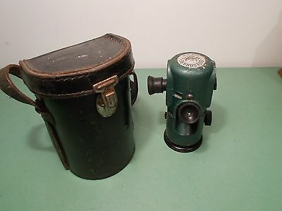 Vintage Watts Sitesquare Surveying Instrument With Leather Case