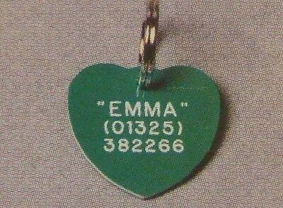 Quality Engraved Pet tag -  30mm Heart acrylic