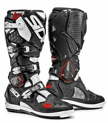 Sidi Crossfire 2 Black White Off Road Motorcycle Boots New RRP £359.99!!