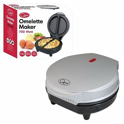 Quest Electric 700W Non-Stick Cool Touch Dual Frying Pan Omelette Omelet Maker
