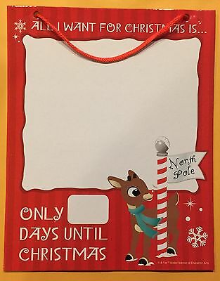 Rudolph The Red Nosed Reindeer Christmas Countdown Dry Erase Board New
