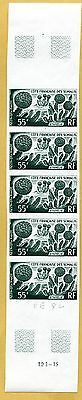 MNH Somali Coast Proof/Imperf Strip of 5 (Lot #scs89)