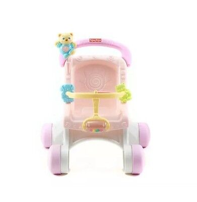 Fisher Price Baby Walker Music Doll Stroller Girl Toy Toddler Play First Steps E