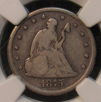 1875-CC 20 Cent Piece NGC F12 (011)