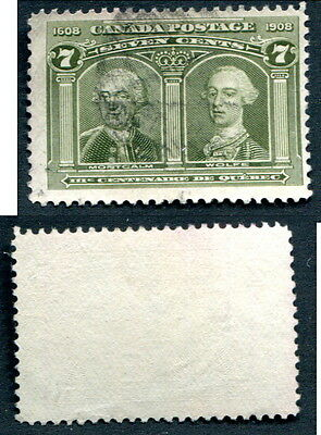 Used Canada 7 Cent Quebec Tercentenary Stamp #100 (Lot #6083)