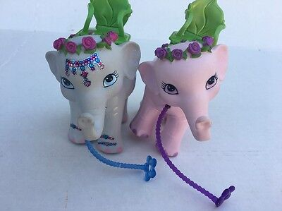 2007 Mattel Barbie/Kelly The Island Princess Pink And Gray Elephant Thrones Doll
