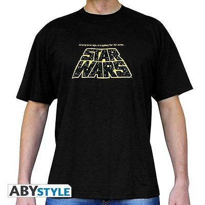 STAR WARS - T shirt basic homme noir A long time ago... Taille XL