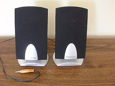 "* NEW MINT * 6"" DESKTOP LAPTOP COMPUTER SPEAKERS SP-20A EMACHINES Wired & Tested"