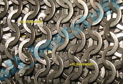 Chain Mail Sheet Flat Riveted Flat Washer Rings - Medium Size SHEET Only