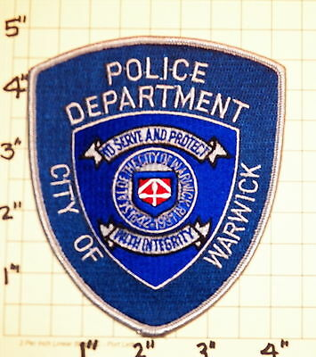 City of Warwick (RI) Police Department Patch               ***NEW***