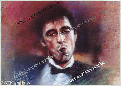 AL PACINO OF SCARFACE CLASSIC    8 X 10 SIGNED (Reprint)