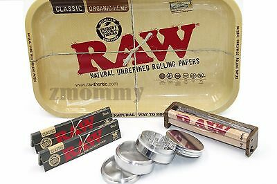 Raw Tray King Size Black Paper Deal With 4 Piece Grinder
