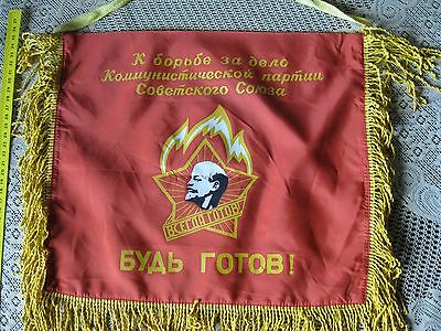 ORIGINAL The Soviet flag Pioneers USSR - CCCP...SEE PHOTO...