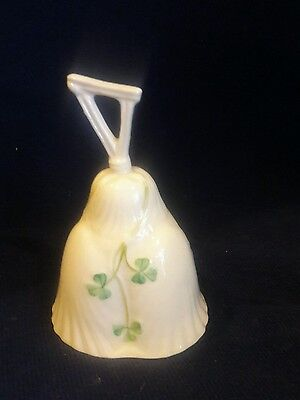 Vintage Belleek Bell with Shamrocks - St Patricks Day or Irish all year