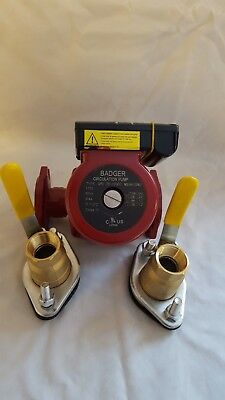 "34 GPM 3 speed Circulating Pump with Cord with (2) 1"" Flanged Ball Valves"
