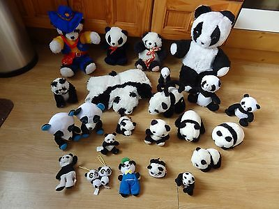 Bundle Of 24 Large & Small Plush Soft PANDAS 15 inches High max