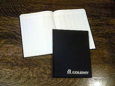 "Adams Account Book, 8-Columns, 7x9.25"", Black, 80 Pages, # ARB8008M, Ledger"