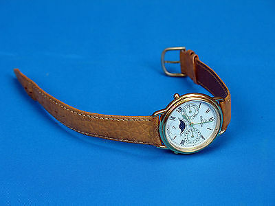 Grovana Watch,German/Swiss?Name of Days, Date & Moon Phase Watch, Leather? Band