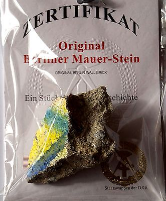Authentic Big Piece of Berlin Wall a piece of german history certificate COA