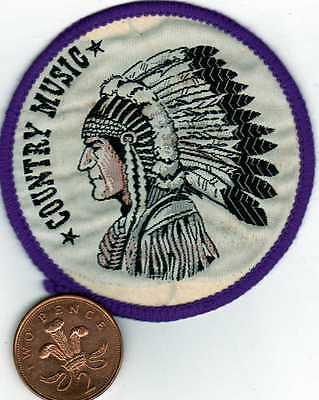 """country music vintage sew patch late 1970.s size 3"""""""