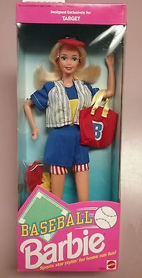 Baseball Barbie (1992) Designed Exclusively for Target- Mattel- NEW