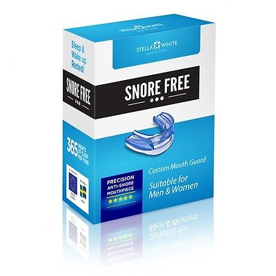 Stella White Snore Free Custom Mouth Guard-Anti snore-RRP £49-Our Price £9.99