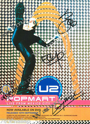 U2- POPMART - LIVE FROM MEXICO CITY Signed Promo Poster