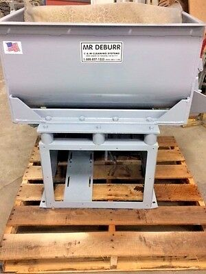 6.5 cu. ft. C&M TOPLINE,  Mr Deburr Rectangular Vibratory Finishing Tank: 600DB