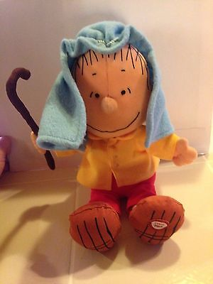 Talking Linus Van Pelt Joseph Nativity Charlie Brown Plush Stuffed Peanuts Gang