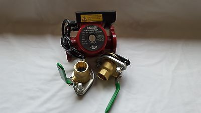 "20 GPM 3 speed Circulating Pump With Cord with (2) 1"" Flanged Ball Valves"