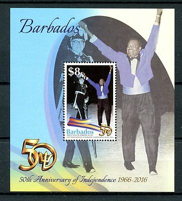 Barbados 2016 MNH Independence 50th Anniv Errol Walton Barrow 1v M/S Stamps