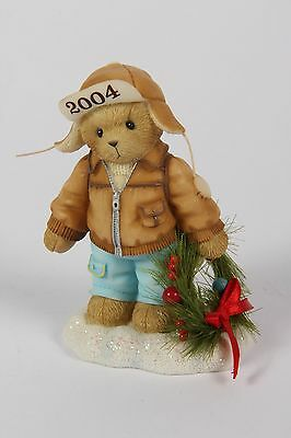 """REDUCED! Cherished Teddies - Knut 118385 """"Decorating the..."""" DATED PIECE 2004"""