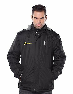 AdirPro Men's 5-Volt Max Lithium-Ion Soft Shell Heated Jacket Kit 2.0Ah Battery