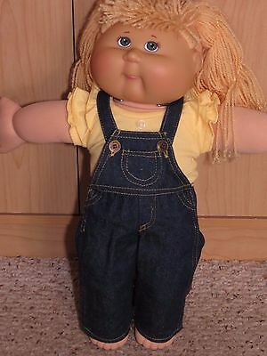 """Cute 2 Piece Jeans Overalls Outfit With Top To Fit The 16"""" Cabbage Patch Doll #2"""