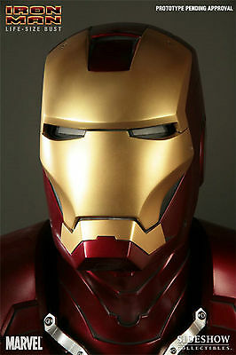 Sideshow Marvel Avengers Mark 3 Iron Man 1:1 Scale Life-Size Statue Figure Bust