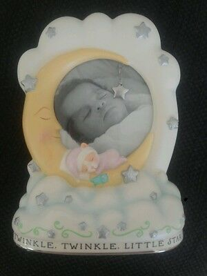 Hallmark Table Top Picture Frame Baby Twinkle Twinkle Little Star Moon Clouds